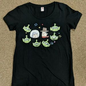 Disney Pixar Uniqlo Black Unisex Toy Story T-Shirt